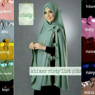 Hijab Jilbab Khimar RISTY PITA polos