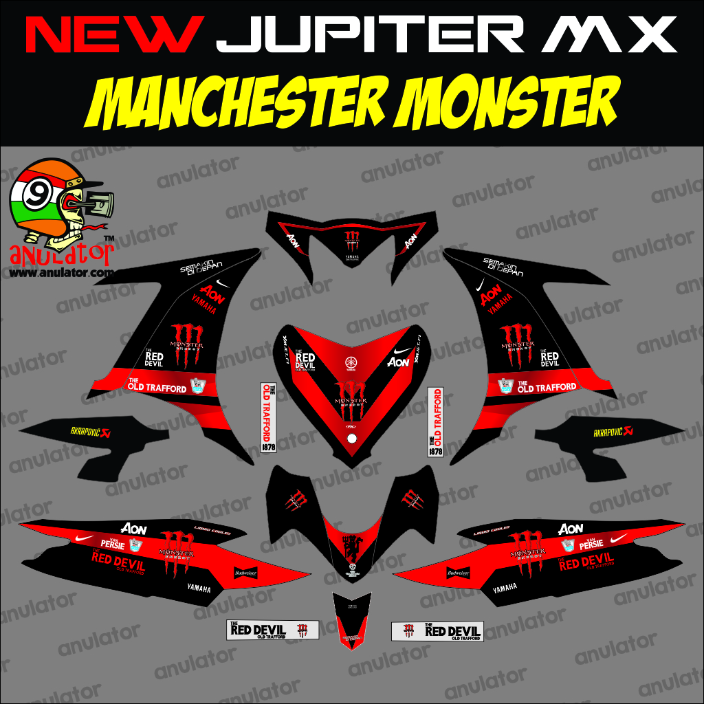 Jual sticker striping motor stiker yamaha new jupiter mx mu
