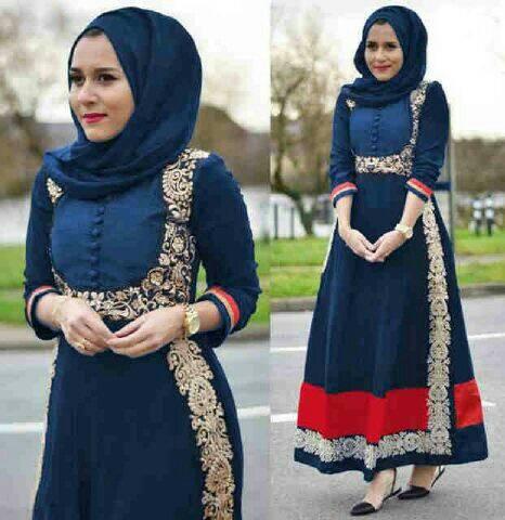 Baju muslim Hijab Gamis New Nila Blue 0171