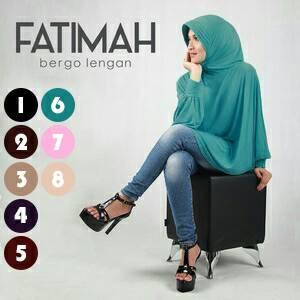bergo lengan fatimah / hijab / jilbab/khimar / kerudung