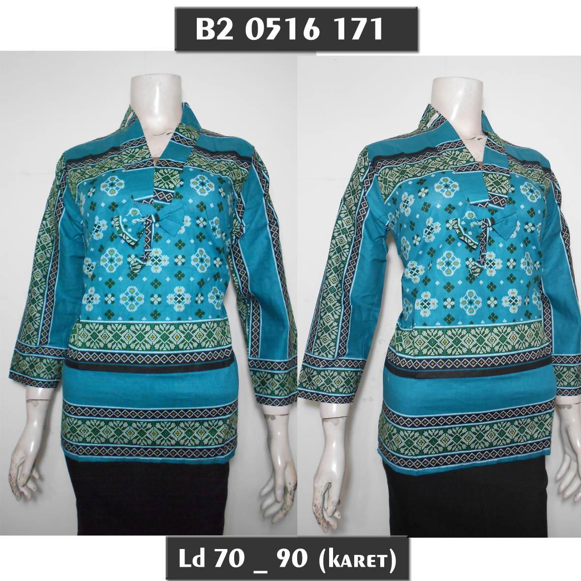 Jual Blus Batik Abg Muslim Warna Blouse Batik Murah Lengan