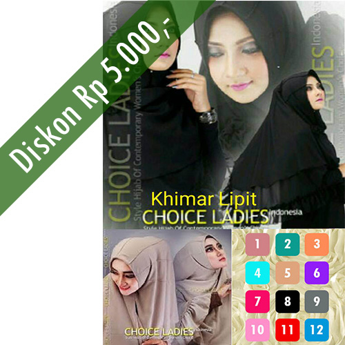 Hijab/Jilbab Khimar Lipit Vertikal