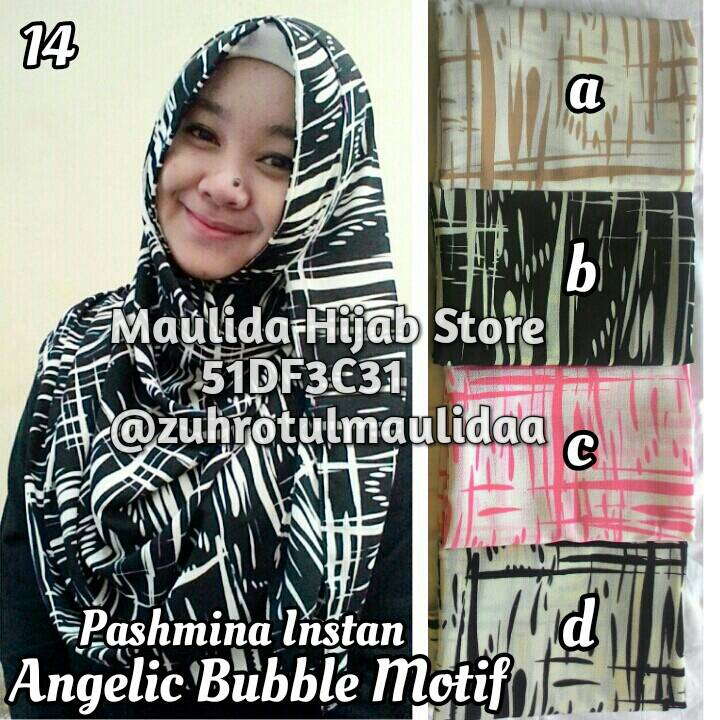 Pashmina Instan Angelic Bubble Motif / Maulida Hijab / jilbab khimar