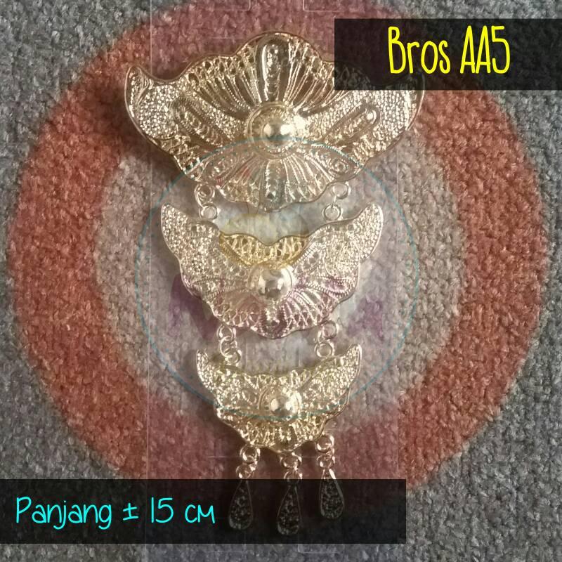 Bros Kuningan Etnik Susun Tiga / Bros Kebaya / Bros Jilbab Hijab - AA