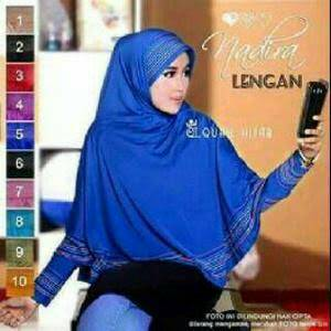 bergo lengan nadira / khimar / jilbab / kerudung / hijab