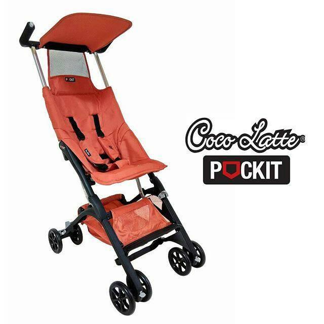 stroller Cocolatte Pockit 688 Cover orange . blue
