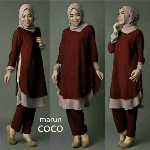 V1060 Hijab KIOKA MAROON