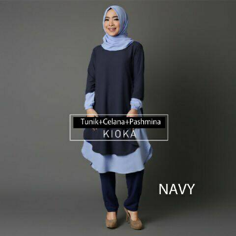 V1056 Hijab KIOKA NAVY