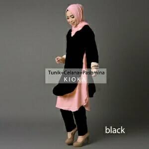 V1057 Hijab KIOKA BLACK