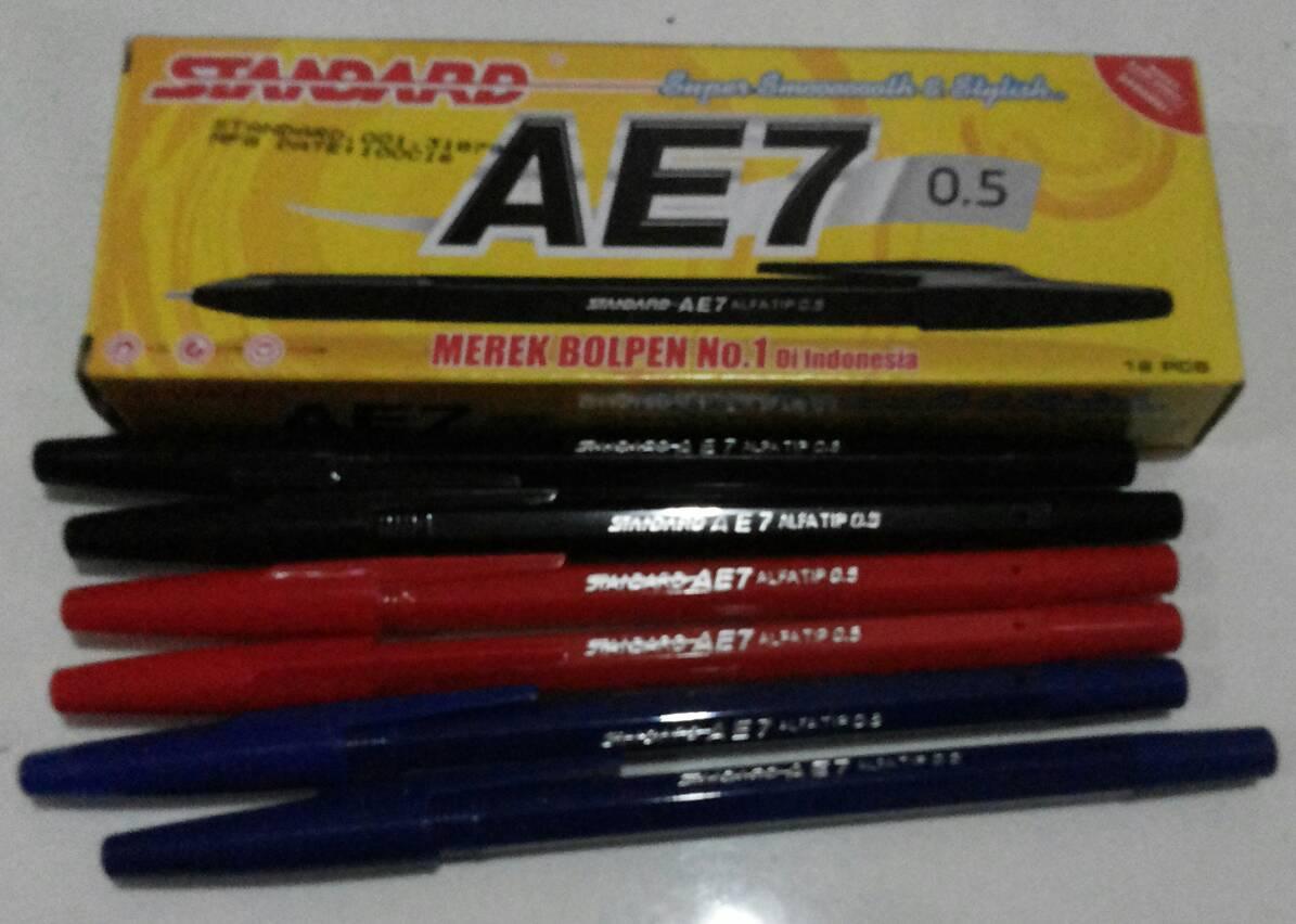 Pulpen Standar Ae 7 24 Pcs 2 Kotak Daftar Harga Terbaru Merk Pipo King Jeller Ppg103 Jual Standard Ae7 Pen Ballpoint Hitam Biru Merah Eka Atk Tokopedia