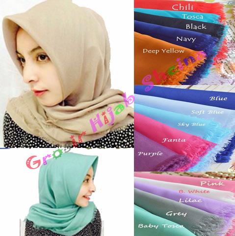 hijab/Jilbab/kerudung Segi Empat hana Rawis