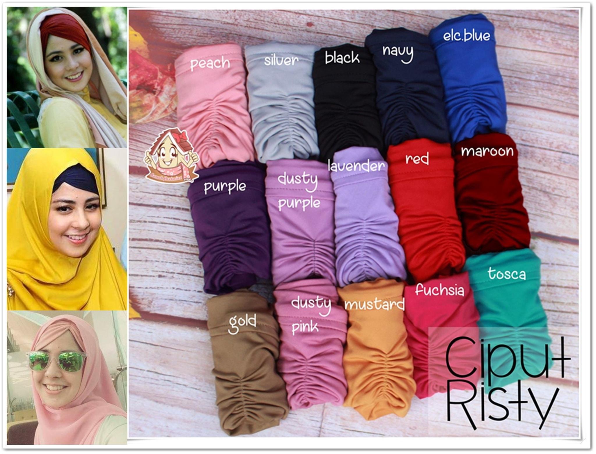ciput - inner arab - bandana hijab - CIPUT ARAB RISTY - kerut - poni