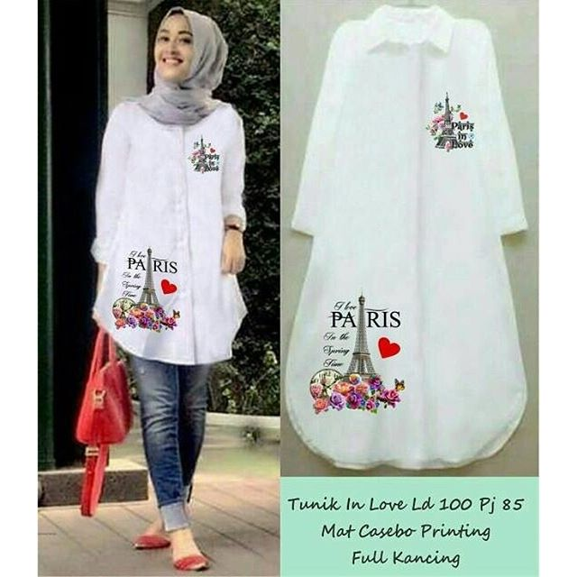 Baju Hijab Murah Tunik In Love Paris