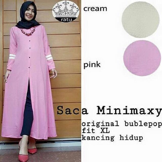 Baju Hijab Murah Saca Mini Maxy