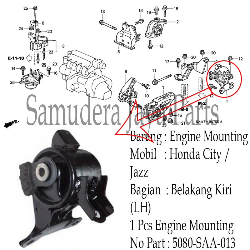 ENGINE MOUNTING CITY/JAZZ (OEM : 50805-SAA-013)