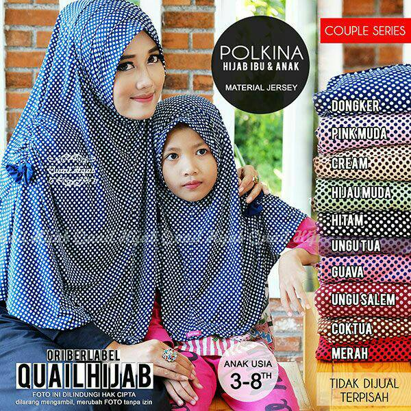 Jilbab Couple Polkina ori Quail hijab