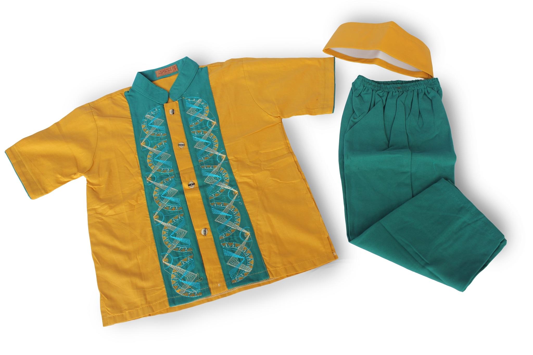 Setelan Baju Koko Anak Laki Laki Terbaru - KOKO D (3-4 tahun)