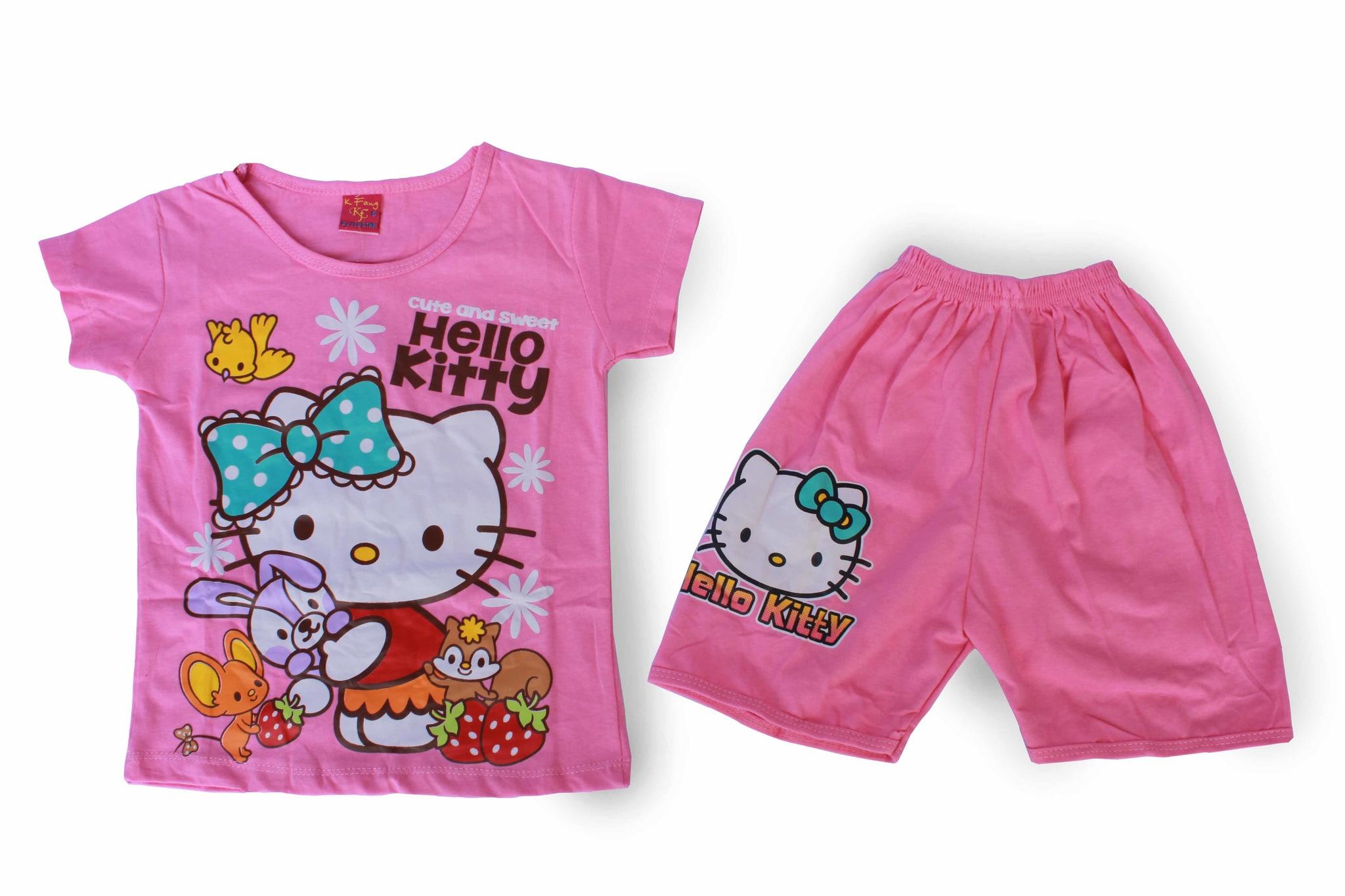 Baju Setelan Anak Perempuan Murah - Hello Kitty SAC -A