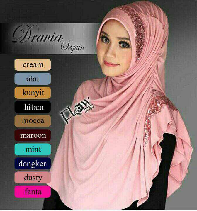 hijab / kerudung / bergo flow dravia