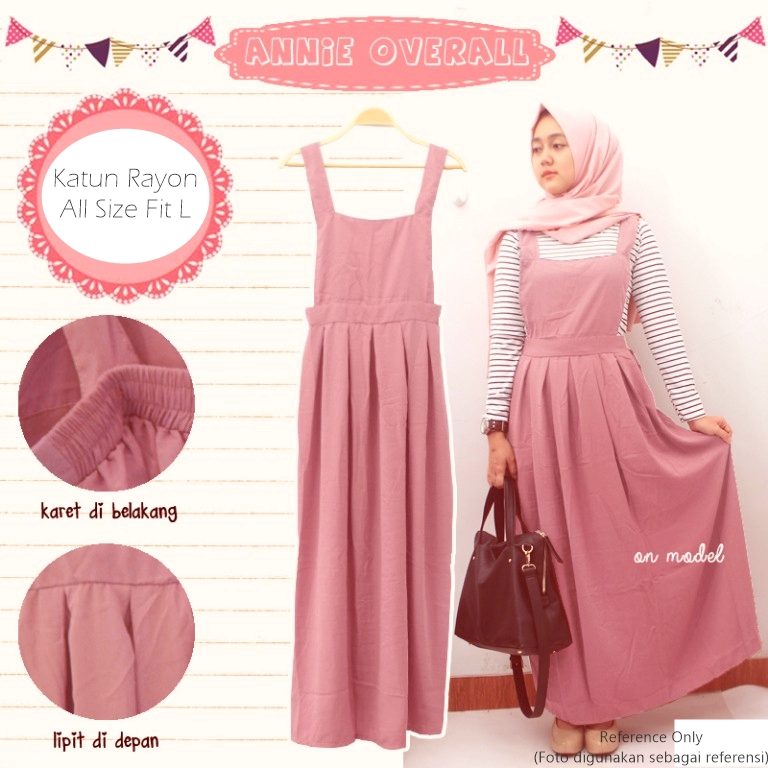 BAJU HIJAB/ DRESS OVERALL 3 WARNA