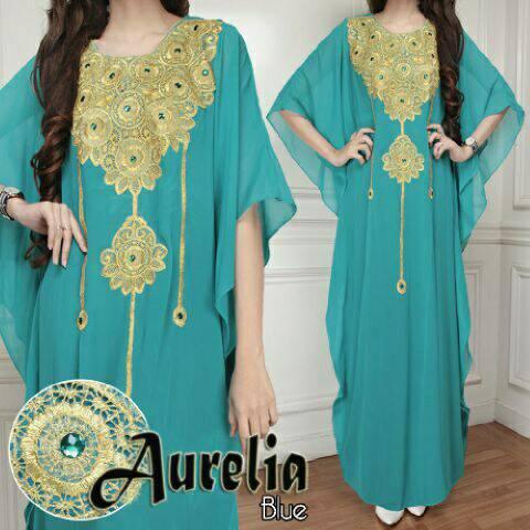 V1078 Kaftan Maxi Dress AURELIA Biru