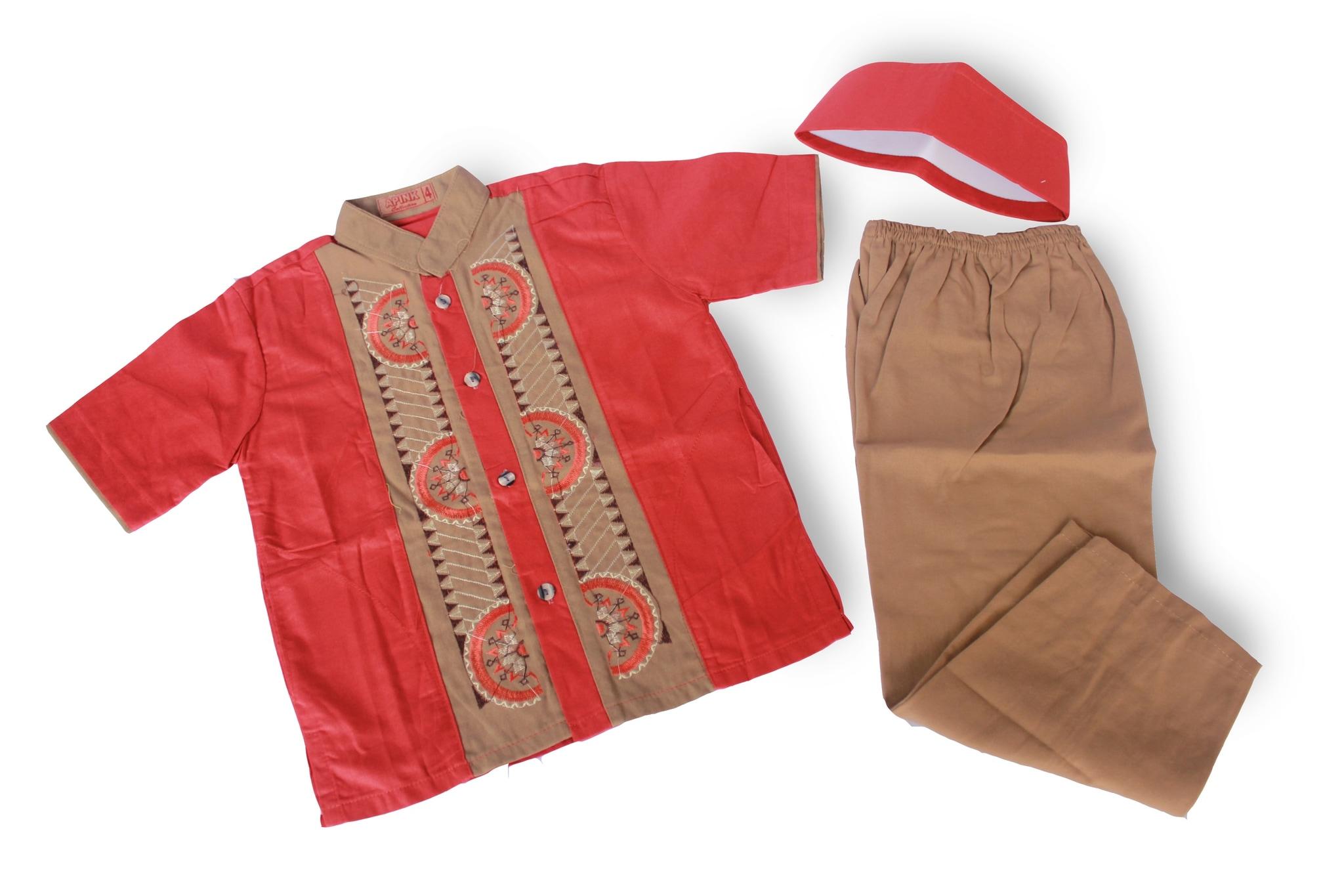 Setelan Baju Koko Anak Laki Laki Terbaru - KOKO F (6 Tahun)