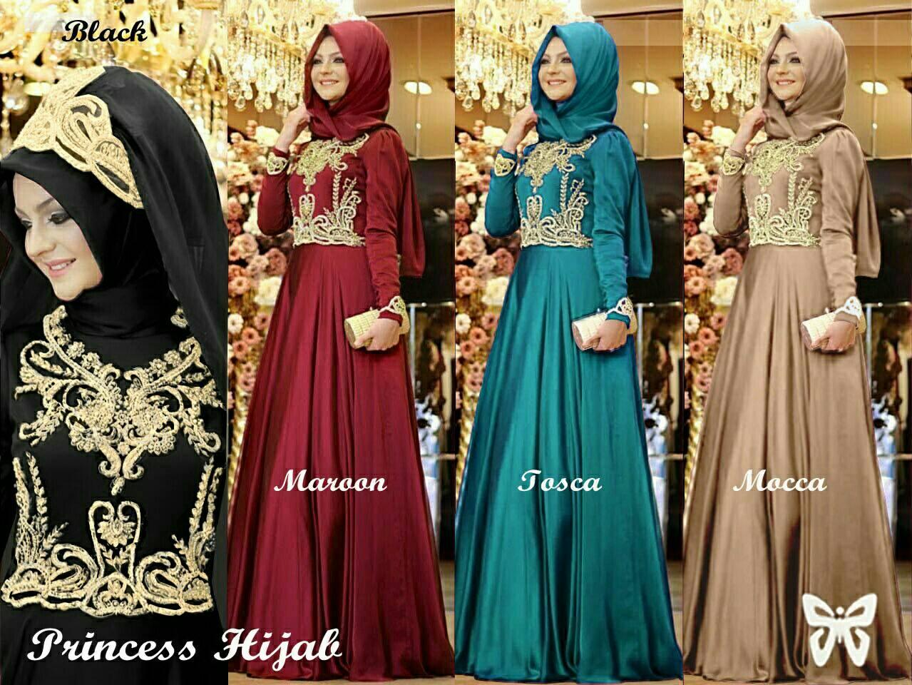 Princess Hijab Set (Maxi+Pasmina Polos)