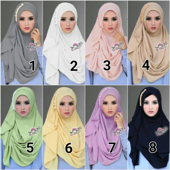jual jilbab langsung pakai Tazkia Pearly by dqiara hijab