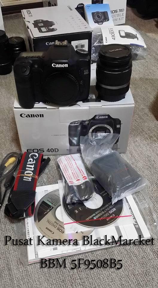 Paket Promo Puasa Canon Eos 40D + Lens 18-55mm Pin 5 F 9 5 0 8 B 5