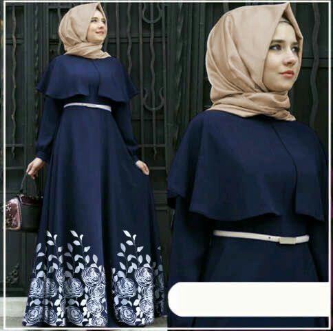Hijab Andiani Rose Navy (SUPPLIER KONVEKSI DISTRIBUTOR JAKARTA)