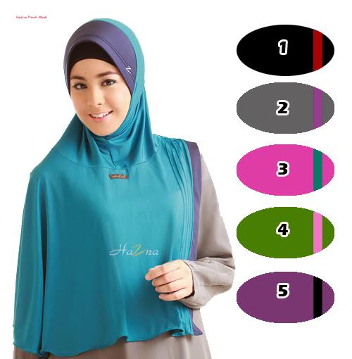 hijab / jilbab bergo hazna jersey