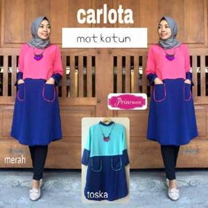 Baju Atasan Wanita murah/Carlota/Dress Cewe/Baju Kantor/Hijab Modern