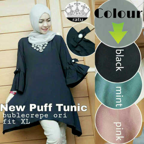 m new puff wolfis top /blouse/atasan/muslim/hijab)