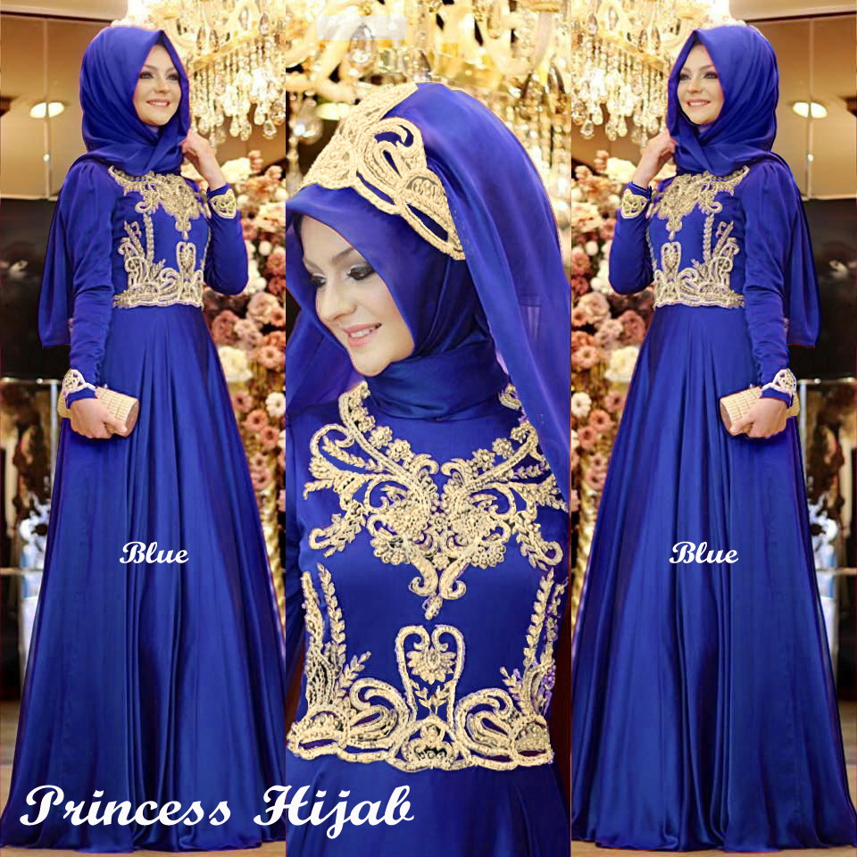 Princess hijab blue
