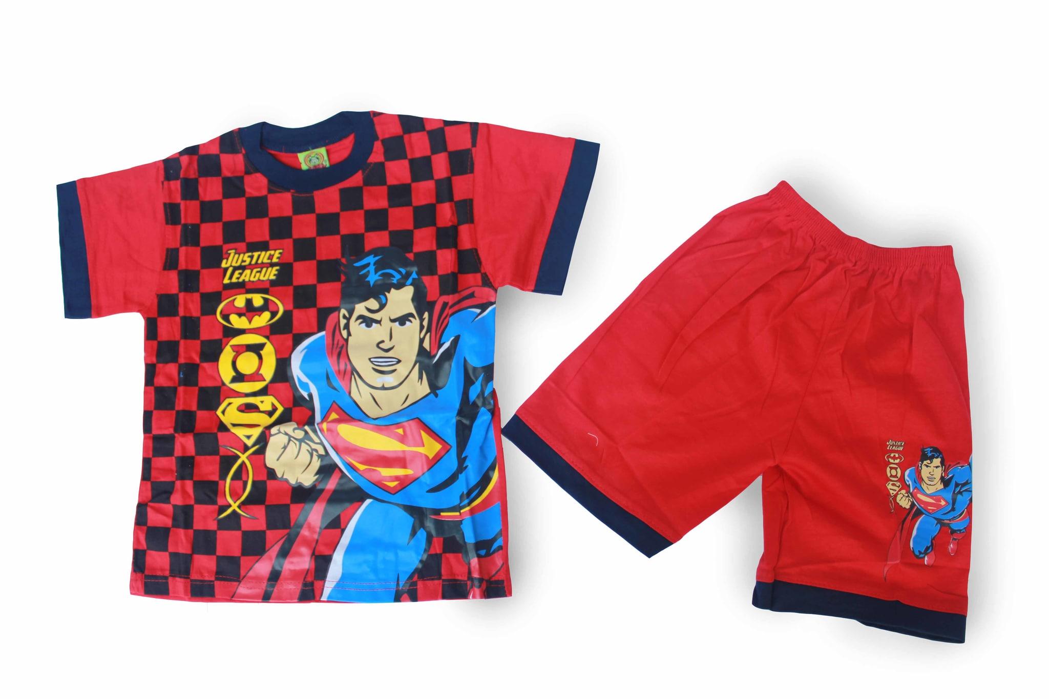 Setelan Baju Anak Laki Laki / Cowok Murah - SAS-C Superman 5-6 tahun