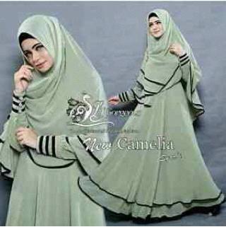 gamis syari camelia ( maxi & hijab bergo )