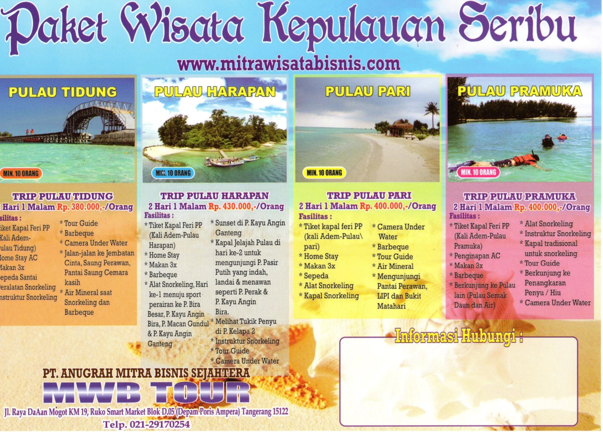 Jual Paket Wisata Kepulauan Seribu 2d 1n Mwb Tourtravel Tokopedia Voucher Pulau Pramuka