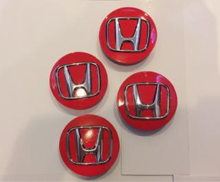 Dop Velg Mobil Honda Warna Merah utk Jazz,Mobilio,Brio dia.5,8cm