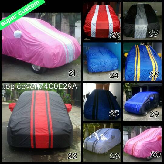 cover sarung mobil custom ayla,agya,brio,jazz,yaris+logo tulisan