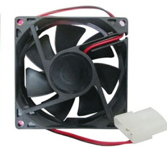 Fan Kipas Casing CPU Komputer Power Supply 8 Cm Black 8Cm Hitam