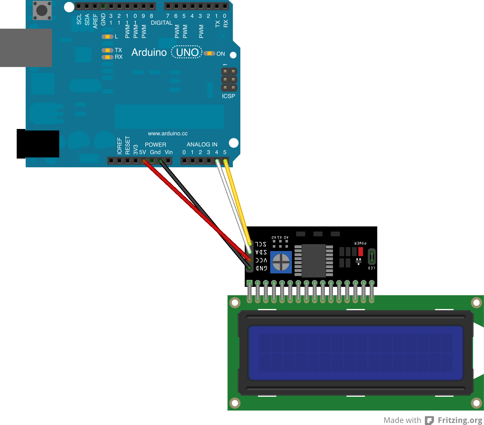 Jual i c lcd for arduino module iic adapter plate