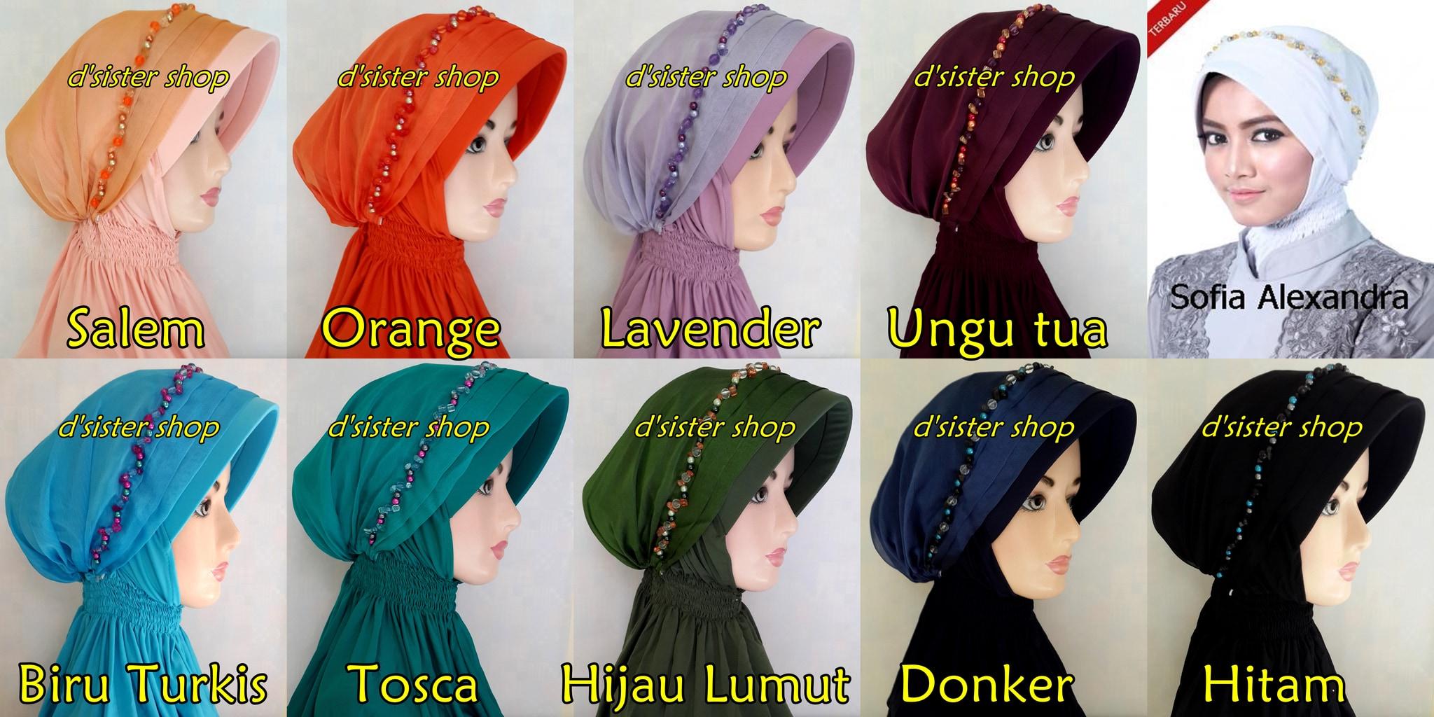 SOFIA ALEXANDRA / Bergo Pesta / Hijab Pesta/ Jilbab Pesta Instan