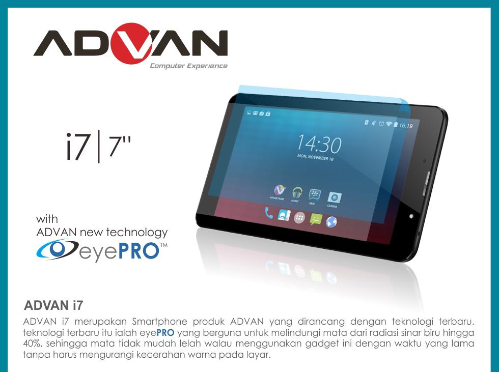 Jual Advan Tablet I7 7 4G LTE RAM 1GB ROM 8GB