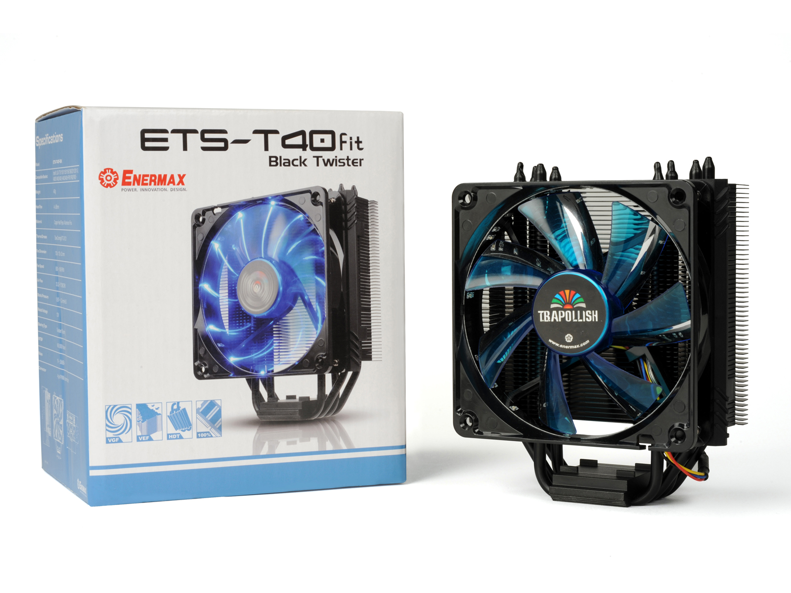 HSF Enermax ETST40FBK / ETS-T40F-BK With Dual Fan 12CM Black Edition