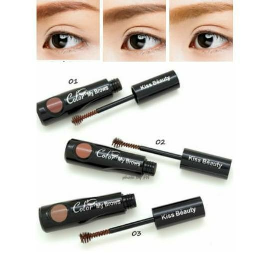 NEW MASCARA COLORING BROWN BY KISS BEAUTY - Blanja.com