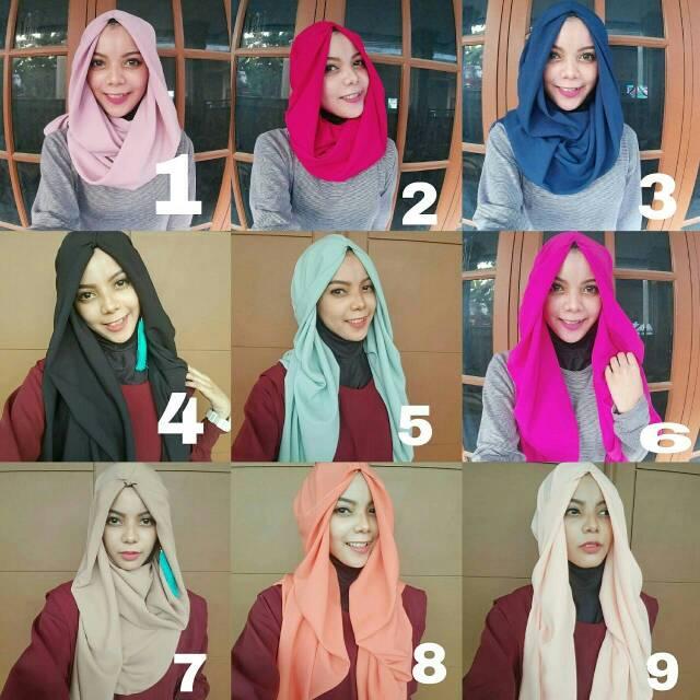 hijab instan murah siap pakai hanatajima
