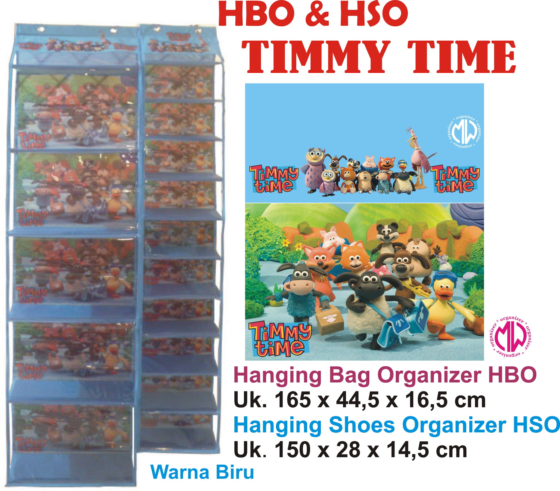 Jual Rak Tas Gantung Karakter Hanging Bag Organizer Hbo Hboz Frozen Biru Zipper Retsleting Timmy Time Produsen Organizermw Tokopedia