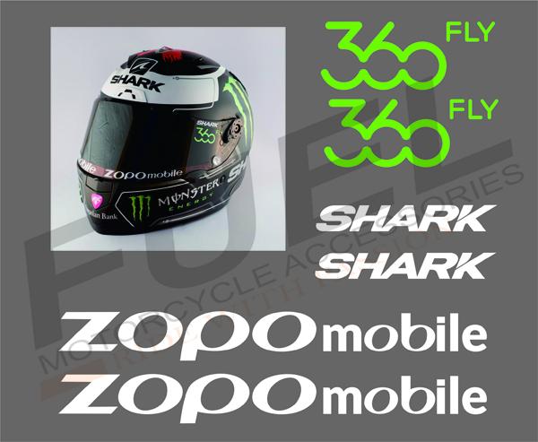 Jual sticker stiker visor helm 99 jorge lorenzo shark helmet fuel tokopedia