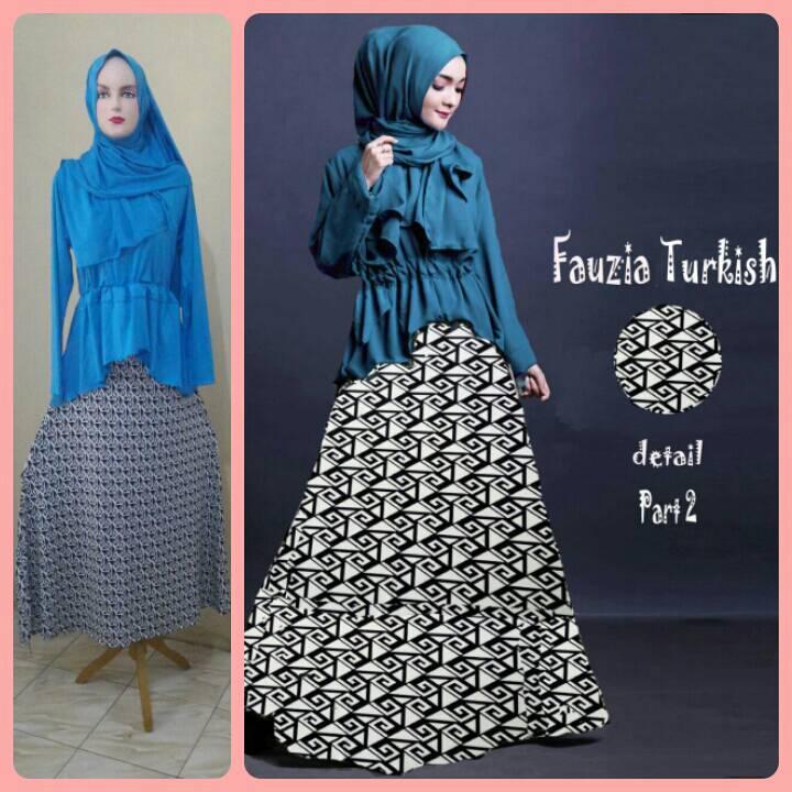 Gamis Syari murah Fauzia Set Turkish (Cantik Terbaru Modis Modern)