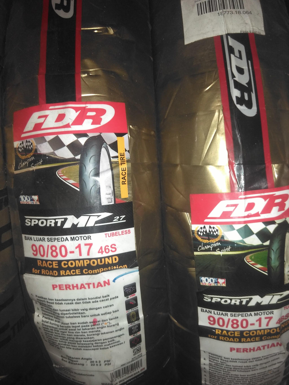 jual ban motor racing fdr mp27 & mp57 90/80-17( soft compound &v